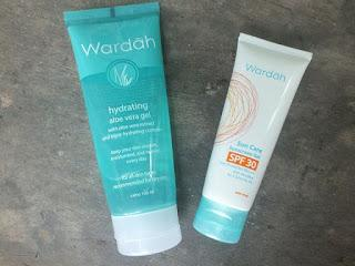 [ REVIEW ]  WARDAH SUNSCREEN SPF 30 & WARDAH HYDRATING ALOE VERA GEL