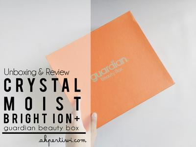 [UNBOXING & REVIEW] Guardian Beauty Box 2017 - Crystal Moist Bright Ion+