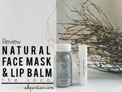 [REVIEW] The Soco Detox Face Mask & Natural Lip Balm