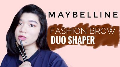REVIEW & SWATCHES MAYBELLINE Fashion Brow Duo Shaper : Cara Gampang dan Cepat Membuat Alis untuk Natural