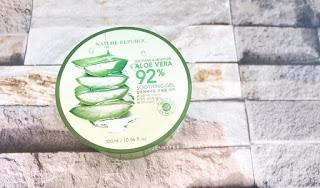 WAJAH GLOWING HANYA DENGAN NATURE REPUBLIC ALOE VERA SOOTHING GEL ?