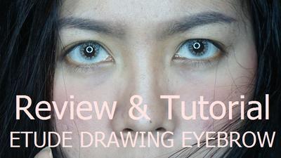 Review & Tutorial Etude Drawing Eyebrow Grey Brown