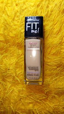 REVIEW : Maybelline Fit Me Foundation Dewy & Smooth