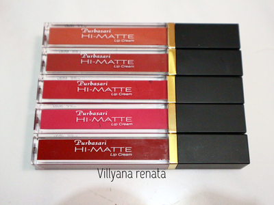 Purbasari Hi-Matte Lip Cream Review and Swatches [ BAHASA ]