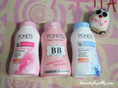 Ponds BB Magic Powder & Angel Face Powder : Pinkish White Glow & Natural Mattifying Review BAHASA
