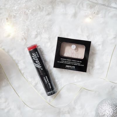 [REVIEW] Absolute New York Eye Artiste Eyeshadow in Pixie Dust and Matte Lipstick in Cadmium Red
