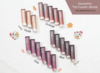 [REVIEW & SWATCHES] Maybelline The Powder Mattes by Color Sensational - All Shades