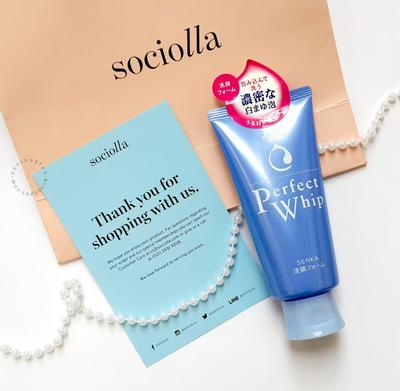 Just Arrived on Sociolla - Shiseido Senka Perfect Whip Cleansing Foam ♥