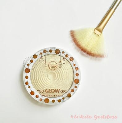 J.cat - You Glow Girl Baked Highlighter #01 White Goddess - Short Review