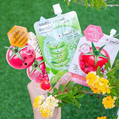 REVIEW SMOOTO ALOE-E SNAIL BRIGHT GEL, SMOOTO TOMATO COLLAGEN WHITE SERUM DAN SMOOTO TOMATO COLLAGEN WHITE & SMOOTH MASK
