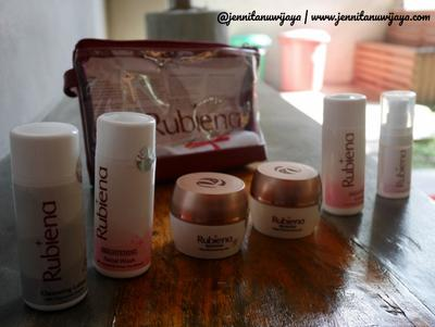Fading Acne Scar and Imperfections using Rubiena Brightening Series