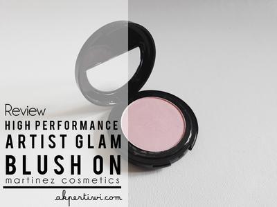 [REVIEW] Martinez Cosmetics High Performance Artist Glam Blush - Rose Temptation