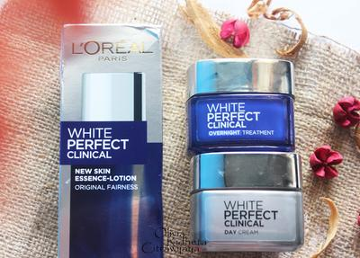 Review Rangkaian L'oreal Paris White Perfect Clinical (Day, Night, dan Essence L'oreal)