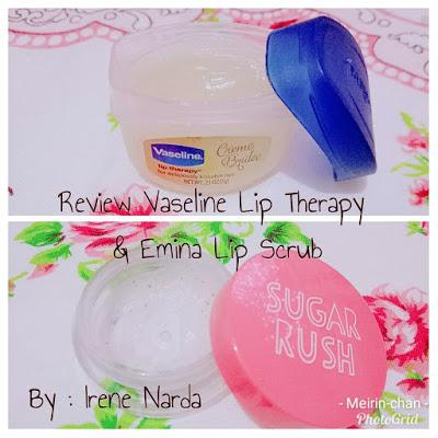 [REVIEW] EMINA SUGAR RUSH LIP SCRUB + VASELINE LIP THERAPY CREME BRULEE
