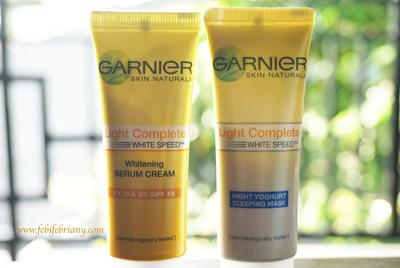 GARNIER LIGHT COMPLETE REVIEW: WHITE SERUM CREAM DAN NIGHT YOGHURT SLEEPING MASK