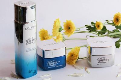 Noda Hitam Tersamarkan dan Wajah Cerah dengan Rangkaian Produk Perawatan L'oreal White Perfect Clinical Essence Lotion