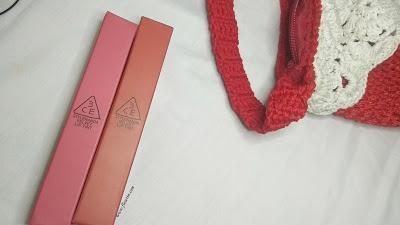 (REVIEW) 3CE Velvet Lip Tint in Pink Break & Daffodil