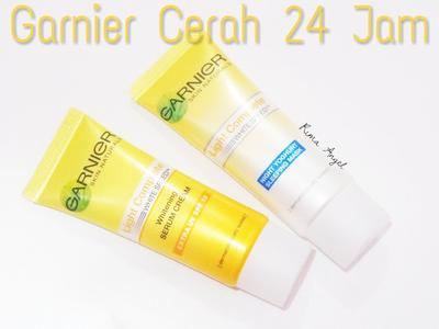 First Impression Garnier Cerah 24 Jam (Whitening Serum Cream - Yogurt Sleeping Mask)