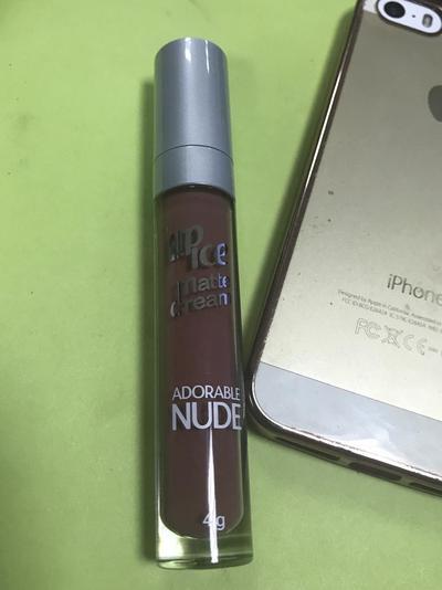Mini Review Lipstik Lip Ice Matte Cream Adorable Nude