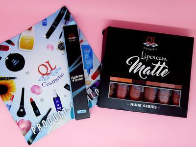 REVIEW : QL Cosmetic Eyebrow Cream & Lipcream Matte Nude Series