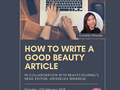 How To Write Good Beauty Article | Ngopicantik 5