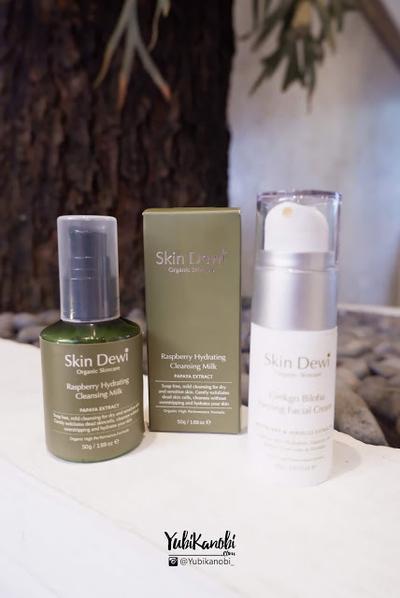 Review Skincare Organik Terbaik Untuk Mengencangkan Kulit Wajah dan Pori - Dewi Skin Raspberry Hydrating Cleansing Milk dan Ginkgo Biloba Firming Facial Cream
