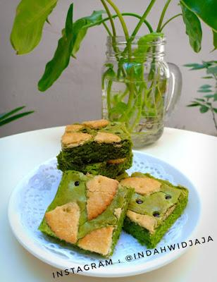Resep Kue - Brownies Matcha Biskuit