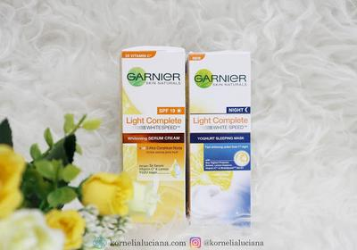 [Skincare Review] - Garnier Light Complete Whitening Serum Cream & Yoghurt Sleeping Mask