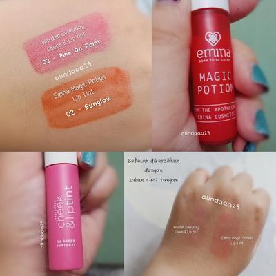 Review EMINA vs WARDAH Lip Tint! Bagus Gak Ya?