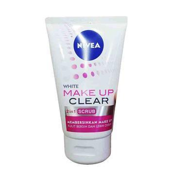 Review Nivea White Make Up Clear 2in1 Scrub