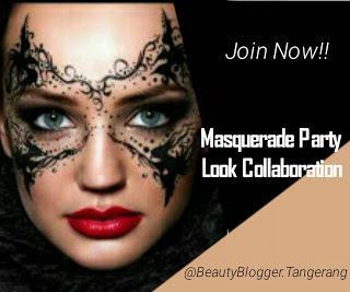 Masquerade Makeup Look - Beauty Blogger Tangerang Collab