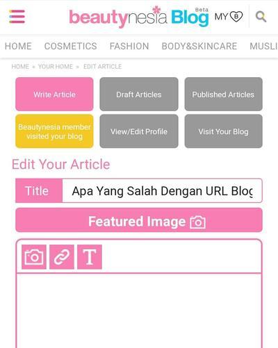 Apa Yang Salah Dengan URL Blog-ku