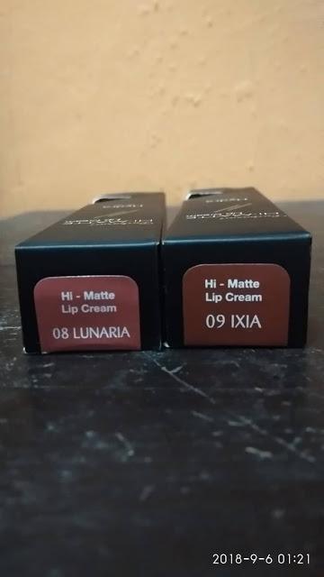 SATURDAY KISS : Review PURBASARI Hi-Matte Lip Cream LUNARIA 08 & IXIA 09