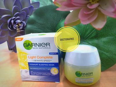 [Review] Garnier Skin Naturals Light Complete white speed Yoghurt Sleeping Mask
