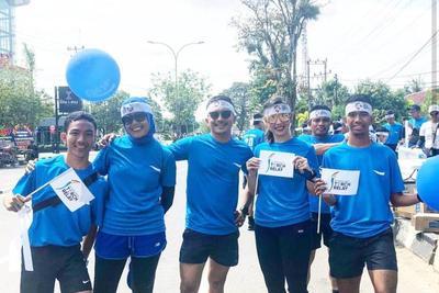 Berlari di Torch Relay Asian Games 2018
