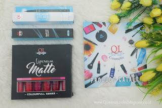 Review QL Cosmetic : Eyeliner, Eyebrow Cream & Lipcream Matte Colourfull Series #KBBVxQLCosmetic