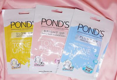 (REVIEW) Pond's Instabright Tone Up Milk Sheet Mask