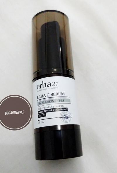 Review Erha 21 Erha C Serum for All Skin Types Rejuvenating Serum With 10% of Stabilized Vitamin C [19 mL]