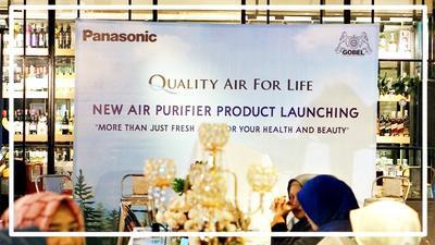 Launching New Panasonic New Air Pirifier and New Car Purifier