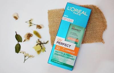 [REVIEW] Sunscreen Loreal UV Perfect Matte & Fresh Untuk Kulit Berminyak & Berjerawat