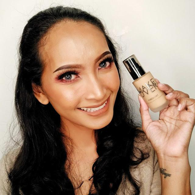 Review MAKE OVER POWERSTAY LIQUID FOUNDATION | Christy Siahaan