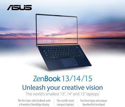 Peluncuran Asus Zenbook Paling Tipis Dan Ringkas Segmen 13 UX333 ,14 UX433 ,Dan 15 UX533