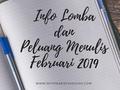 Info Lomba dan Peluang Menulis Februari 2019