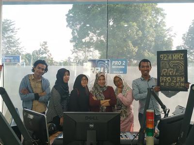 Blogger Sumut Diundang ke RRI Pro 2 Medan.