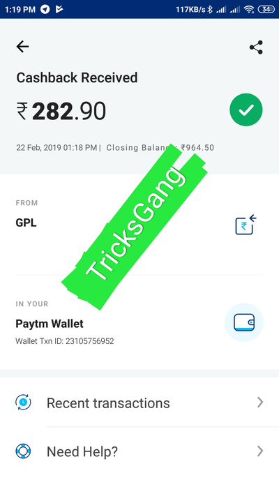 [Proof] GPL App Loot – Signup ₹50 + Refer ₹5 In Paytm