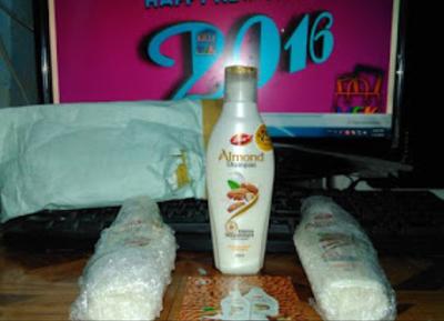 (Delivered) Free Sample Box Of Dabur Almond Shampoo