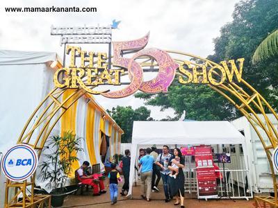 Terpukau dengan Penampilan Pemain Sirkus di The Great 50 Show di Gelora Bung Karno, Jakarta