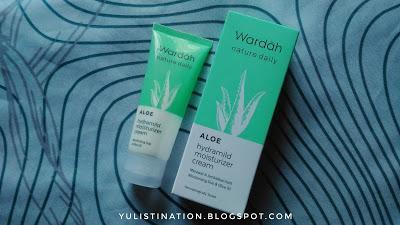 REVIEW : Wardah Nature Daily Aloe Hydramild Moisturizer Cream