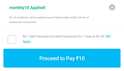 Paytm – ₹20 Free Recharge Working