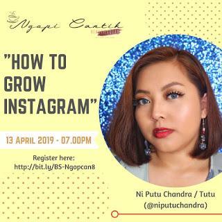 Ngopi Cantik Beautie Squad : How to Grow Instagram